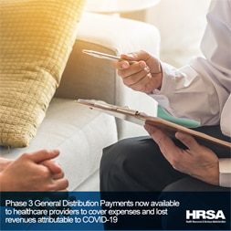 Social media graphic of behavioral health provider holding clipboard and sitting with a patient
