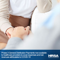 Social media graphic of behavioral health provider sitting with patient