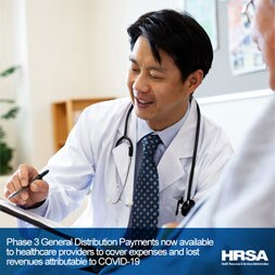 Social media graphic of healthcare provider with a stethoscope