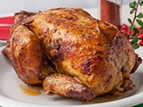 Picture of a grilled turkey