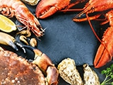 Picture of shrimps, crawfish and seafood