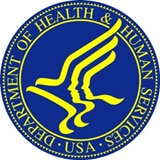 HHS Seal - blue and yellow.