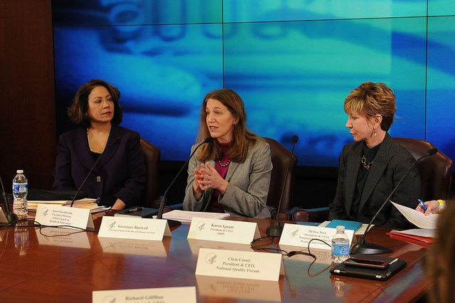 Secretary Burwell holds a meeting about delivery system reform.