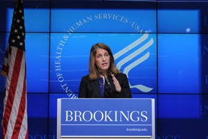HHS Secretary Burwell delivers a special address on the Affordable Care Act at the Brookings Institution. September 23, 2014.