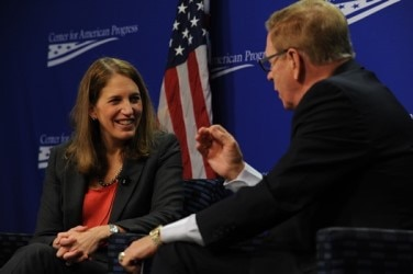 Secretary Burwell attends an event at the Center for American Progress.