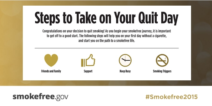 Steps to quit smoking essay