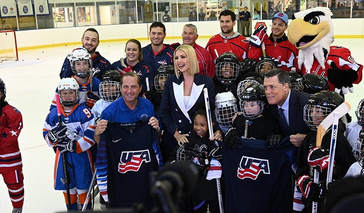Secretary Azar, Presidential Advisor Ivanka Trump and members of the President's Council on Sports, Fitness & Nutrition announced the strategy in Fort Dupont Ice Arena.