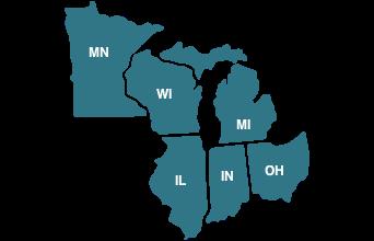 Map of Region 5 States