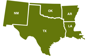 Map of Region 6 State