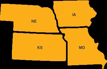 Map of Region 7 States