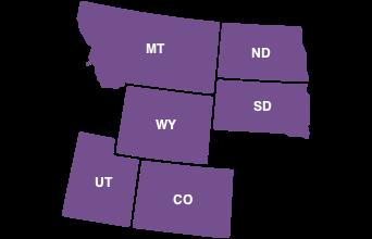 Map of Region 8 States