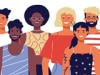 Illustration of a group of diverse adults
