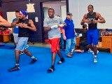 U.S. Olympic boxers practice