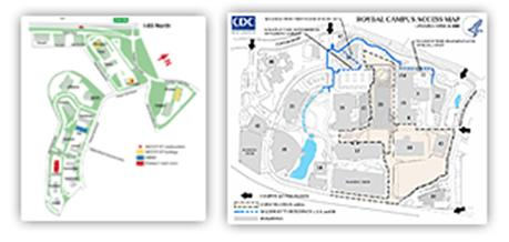 CDC campus map