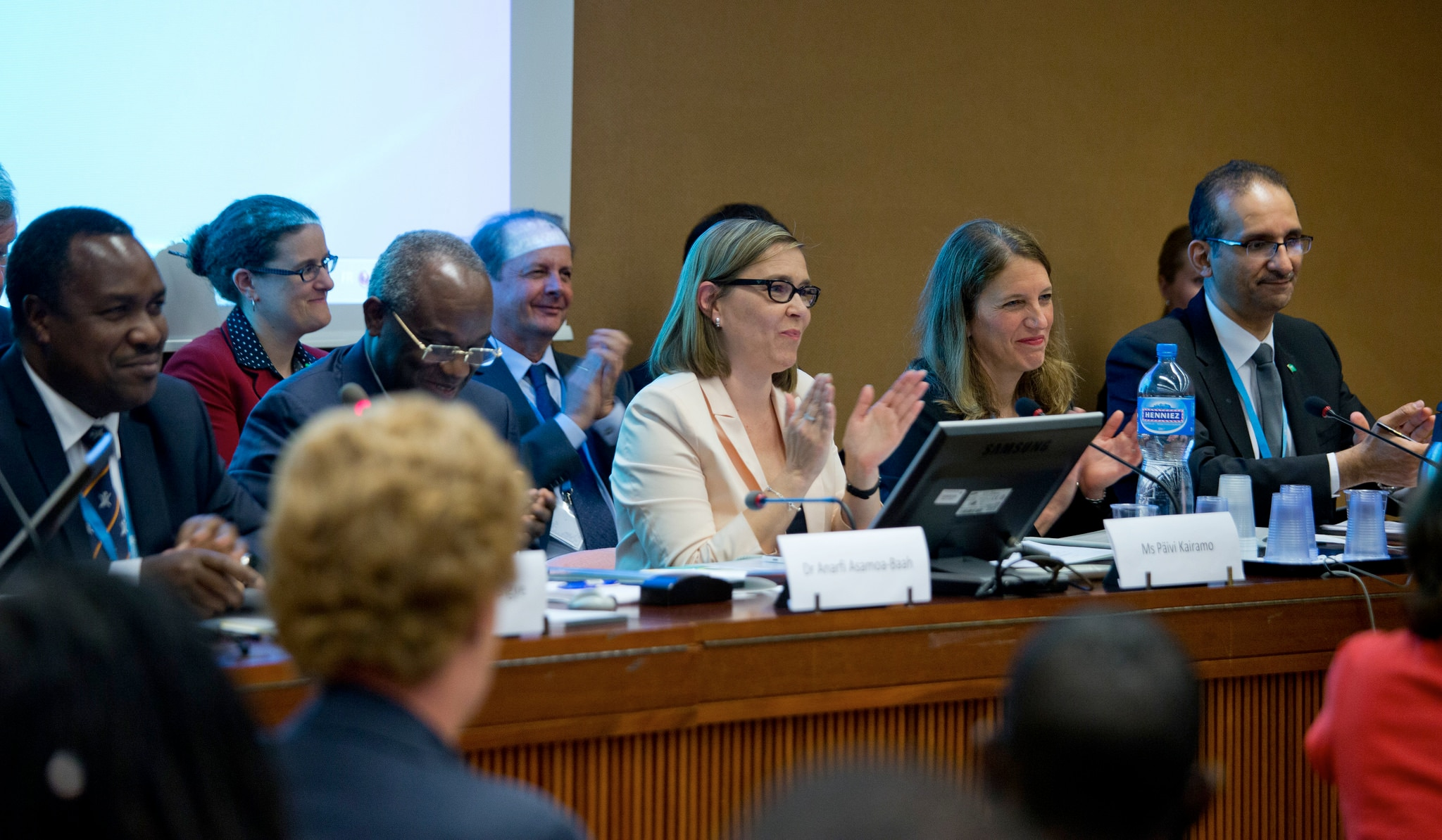 Secretary Burwell attends a World Health Assembly side event on the Global Health Security Agenda.