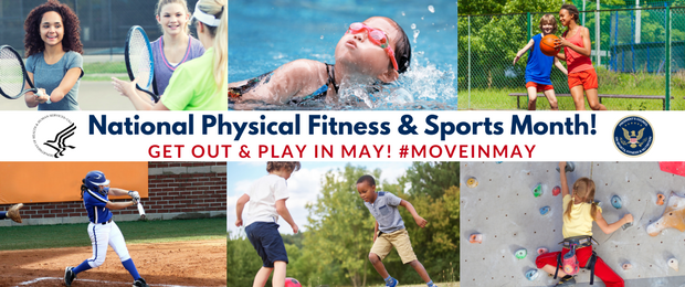 Image showcasing active youth to promote National Physical Fitness and Sports Month